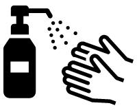 体験の前に会場入口に設置のハンドスプレーで手の除菌をお願いいたします。